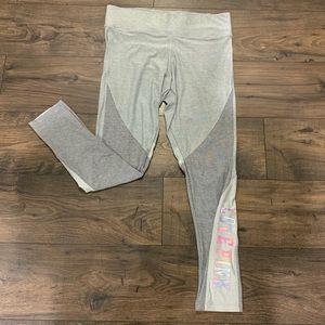 PINK Victoria's Secret Grey Yoga Pants Large